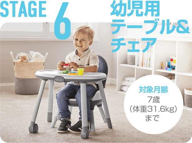 STAGE6 幼児用テーブル&チェア